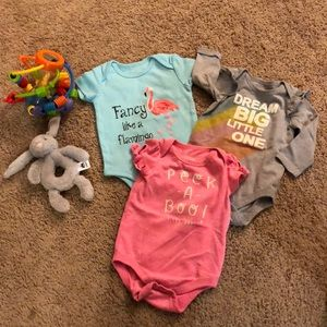 Other - 3 pack bundle girls onesies